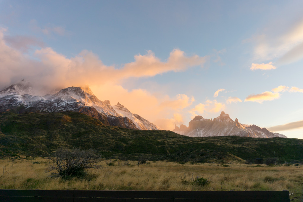 Sunrise at Paine Grande.