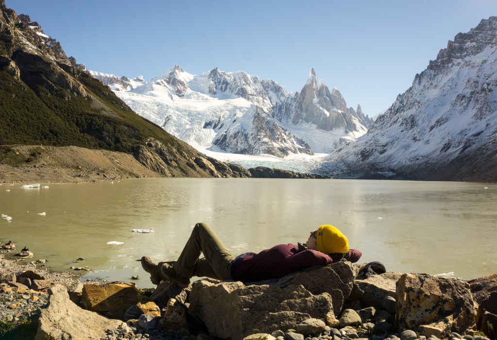 At the base of Cerro Torre.