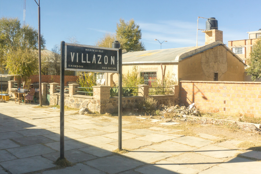 Leaving the train station at Villazon
