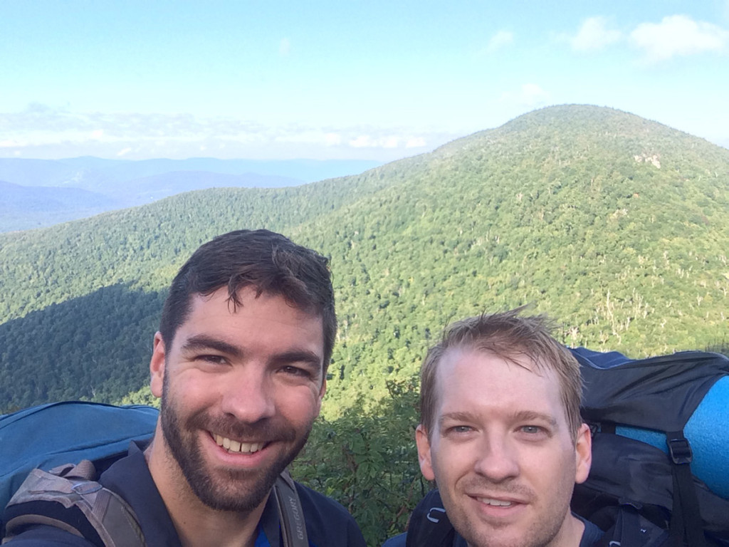 Brandon and I at one of the lookouts off of Blackhead Trail.