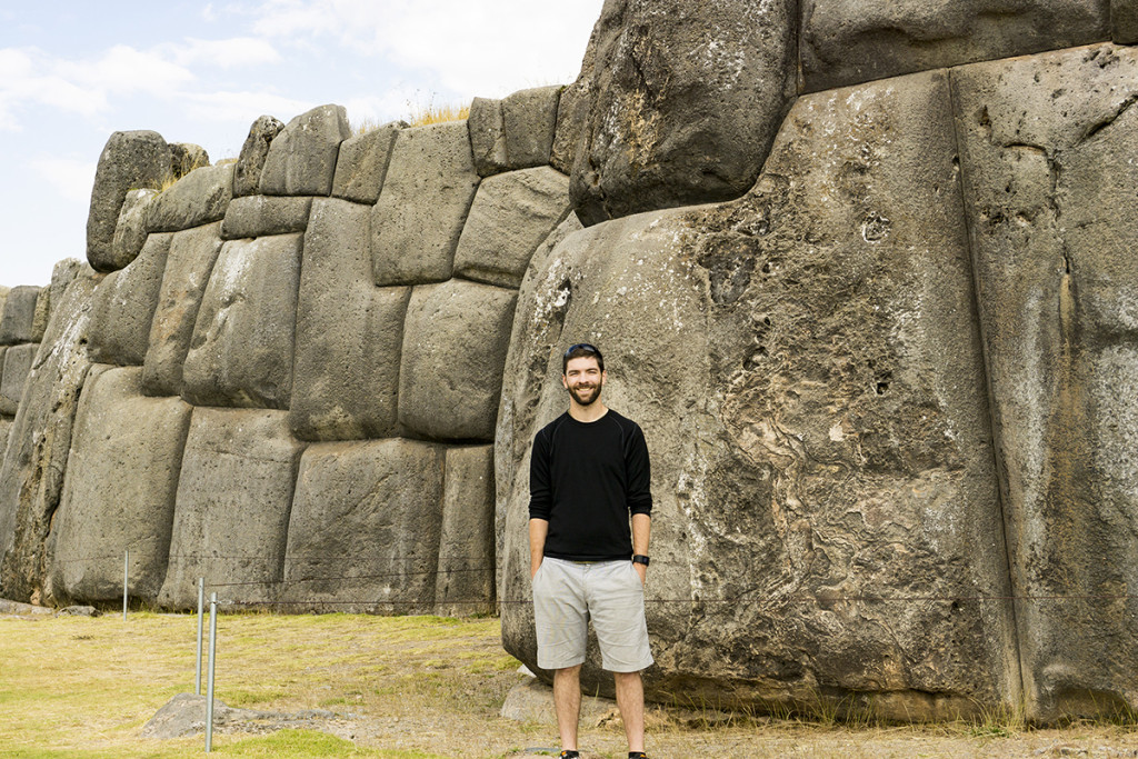 Nate at Sacsayhuaman in Cusco