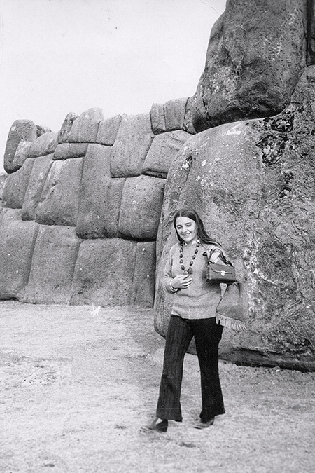 Nancy at Sacsayhuaman in Cusco