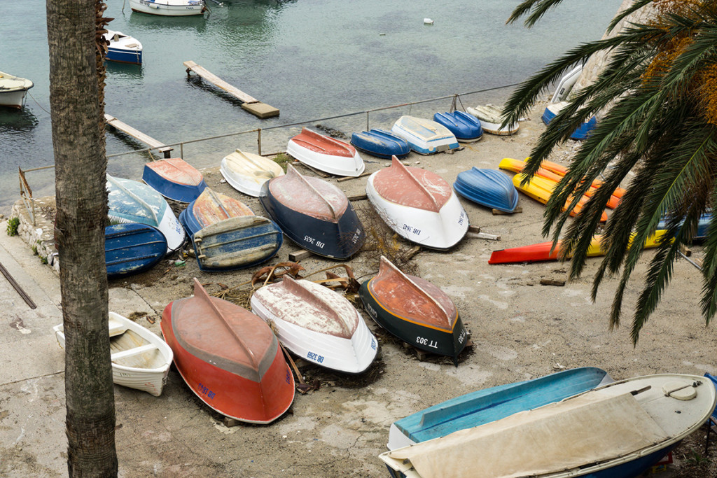 Boats for rent outside the city