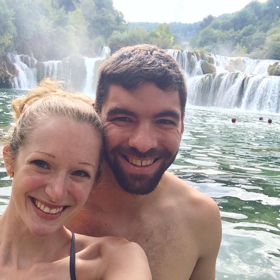 Taking a dip at Krka National Park