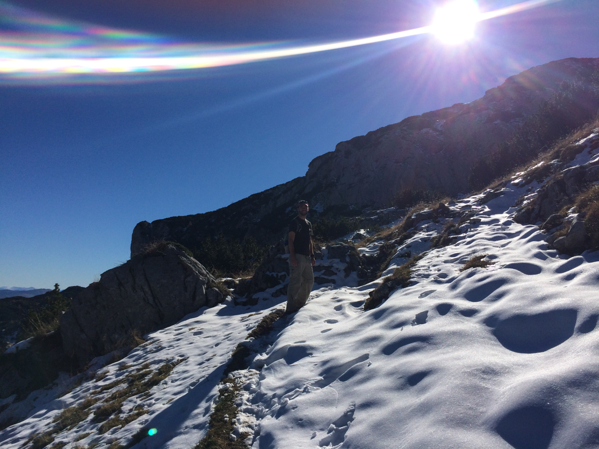 Hiking in the snow in Durmitor National Park