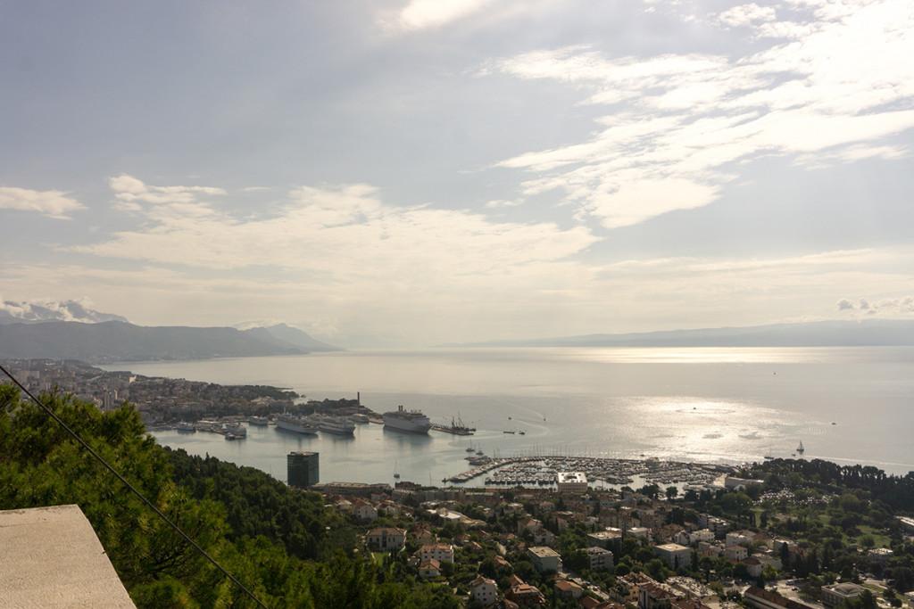 The view of Split Harbor from Marjan Park
