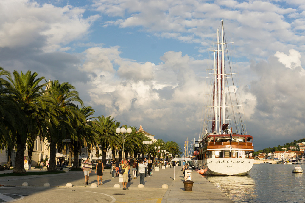 The waterfront in Trogir