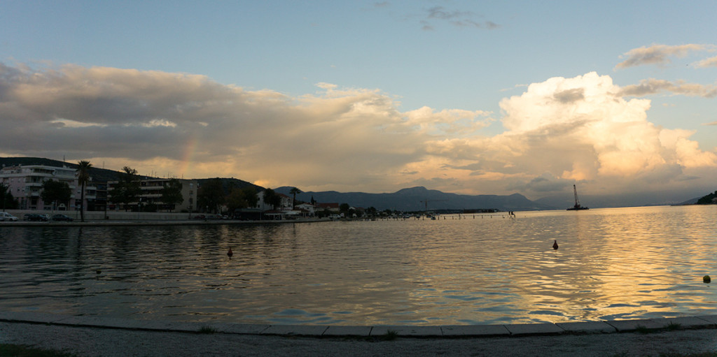 We watched the sunset in Trogir