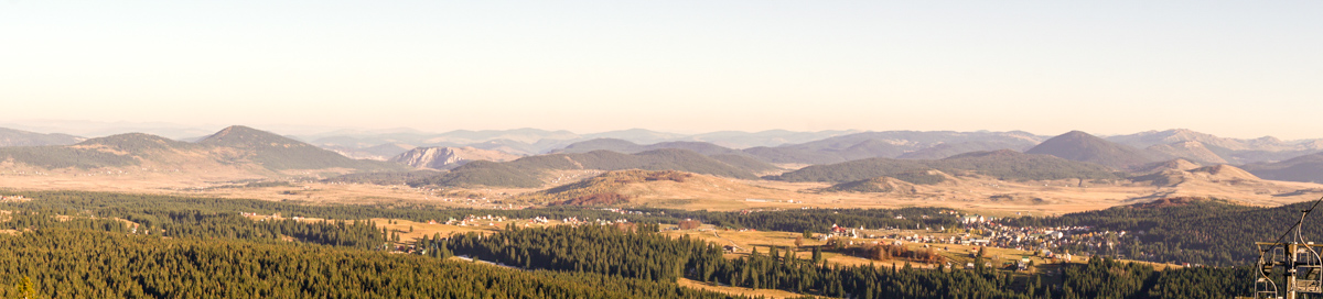 View of Žabljak and the surrounding plateau.