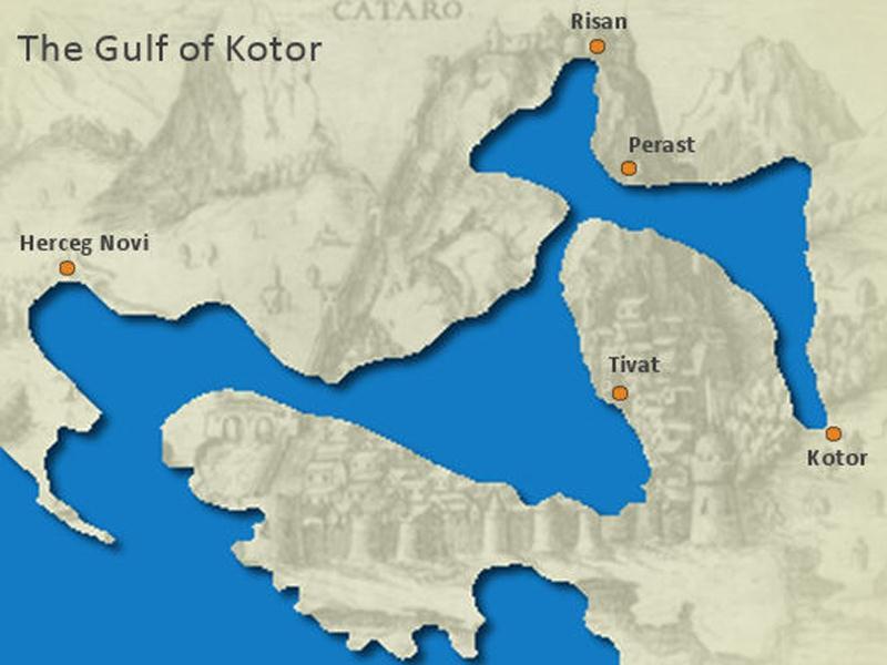 Bay of Kotor Map