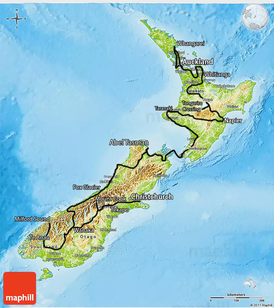two month new zealand road trip itinerary oaks compass. Black Bedroom Furniture Sets. Home Design Ideas